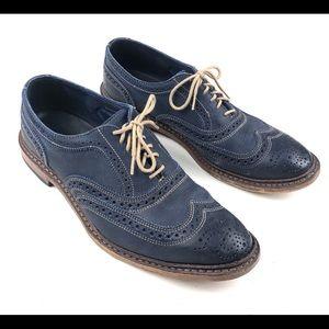 Allen Edmonds Neumok Men's Blue Leather Shoes 8.5